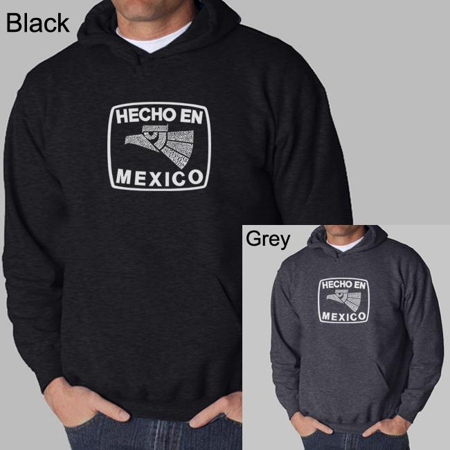 Los Angeles Pop Art Men's 'Made in Mexico' Hoodie - Thumbnail 0