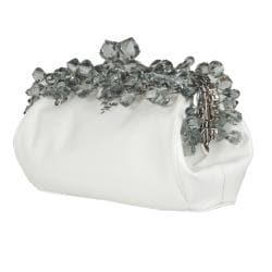 Prada Crystal Encrusted Leather Clutch - Thumbnail 1