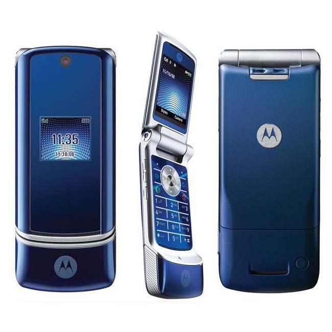 Motorola KRZR K1 Blue Unlocked GSM Cell Phone (Refurbished