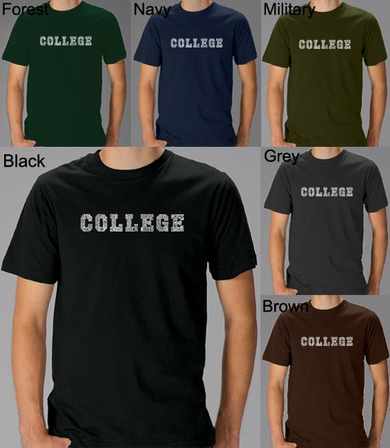 fe232730 Shop Los Angeles Pop Art Men's College T-Shirt - Free Shipping On Orders  Over $45 - Overstock - 5243504