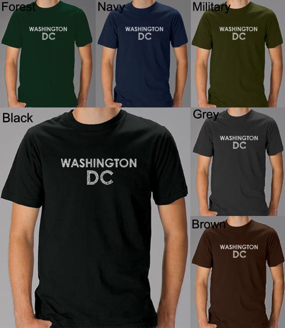 Los Angeles Pop Art Men's Washington DC T-Shirt (Military...