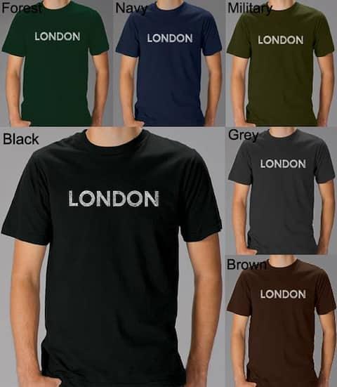 Los Angeles Pop Art Men's London T-Shirt