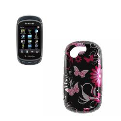 Pink Butterfly Samsung Gravity T T669 Hard Case - Thumbnail 2