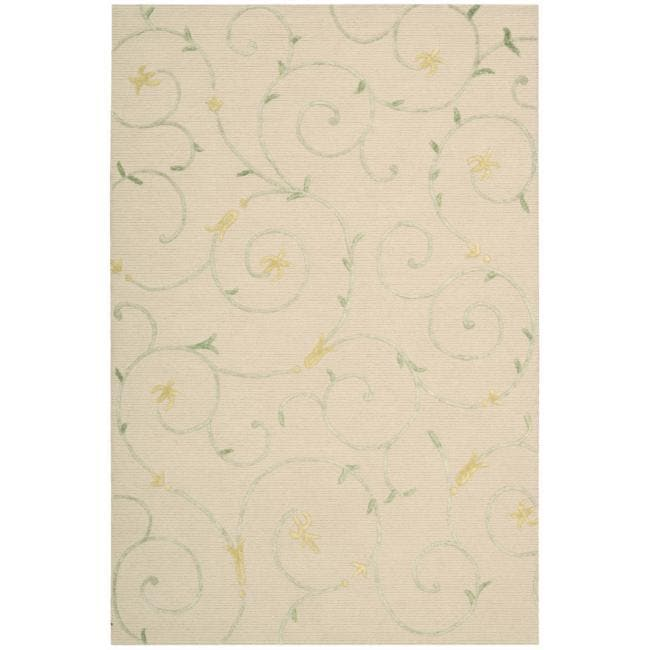 Nourison Cambria Beige Floral Wool Rug (8' x 10')