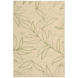 Nourison Sorrento Gold Floral Wool Rug (8' x 10')