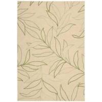 Nourison Sorrento Gold Floral Wool Rug - 8' x 10'