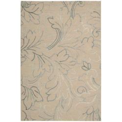 Nourison Sorrento Natural Floral Wool Rug (8' x 10')