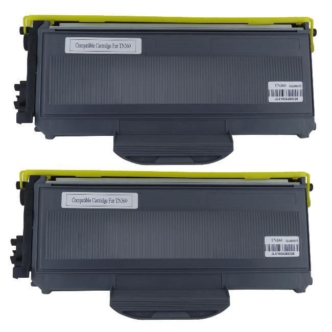 Brother 'TN360' Compatible Black Toner Cartridges(Set of 2) - Thumbnail 0