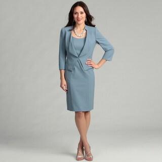 Tahari Women's Paris Blue Two-piece Jacket Dress