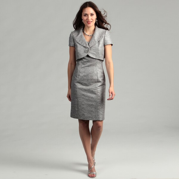 Tahari Women's Platinum Two-piece Dress