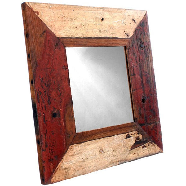 Ecologica Furniture Reclaimed Hardwood Square Mirror
