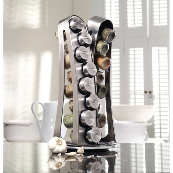 Kamenstein Stainless Steel 16 Jar Tower Spice Rack Free