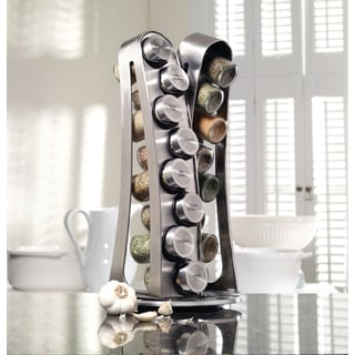 Kamenstein 16-jar Stainless Steel Tower Spice Rack