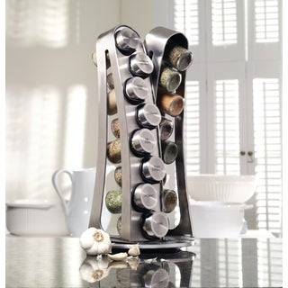 Kamenstein Stainless Steel 16-jar Tower Spice Rack