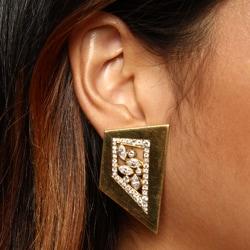 18k Gold 6ct TDW Diamond 1980's Clip-on Estate Earrings (G-H, SI1-SI2)