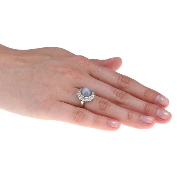 Pre-owned Platinum Star Sapphire and 4/5ct TDW Diamond Estate Ring (J-K, SI1-SI2)