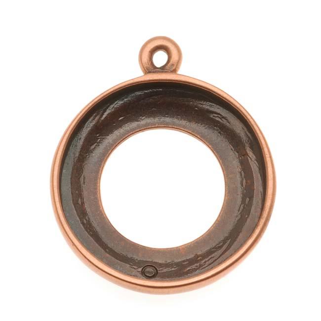 Beadaholique Copper Tone Cosmic Ring Pendant 20mm