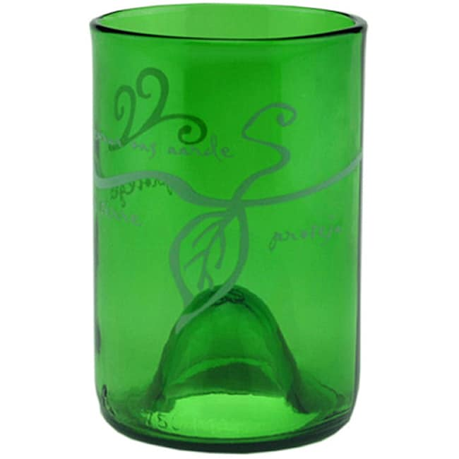 Forest Clear Earth Day Recycled Glass Tumblers (Set of 4)