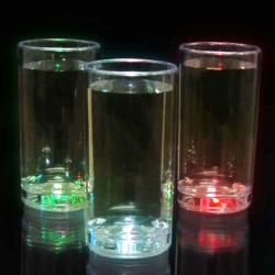 Slender Flashing Shot Glasses with Push Button Activation