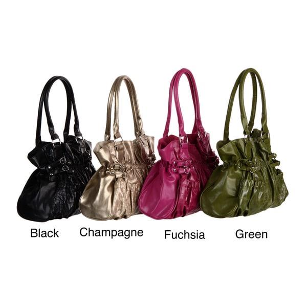 Valencia Shopper Buckle Detail Tote Bag