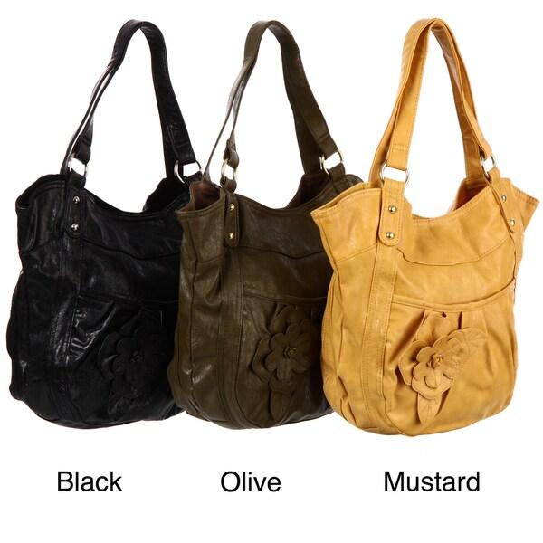Valencia Rosette Double Handle Tote Bag