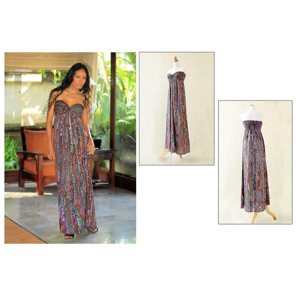 Handmade Rayon 'Bali Empress' Batik Dress (Indonesia)