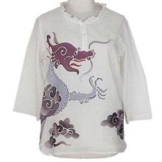 Cotton 'Majestic Naga' Batik Tunic (Thailand)