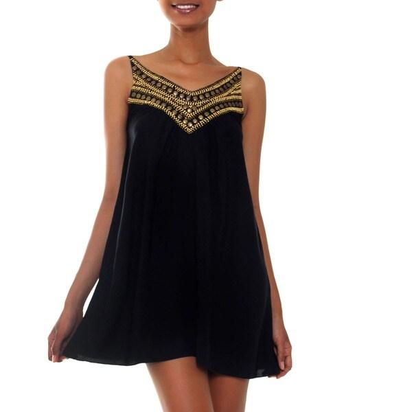 Rayon 'Scintillating in Black' Dress (Indonesia)