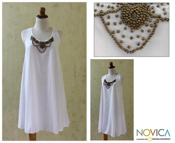 Rayon 'Majapahit Sophistication' Dress (Indonesia)