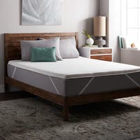 Select Luxury E.C.O. Naturally Dunlop Latex 2-inch Flippable Mattress Topper with Cover