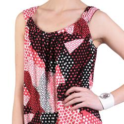 Sangria Women's Sleeveless Stretchy Knit Scoop Neck Dress - Thumbnail 2