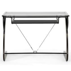 Sculpten Dark Brown Modern Computer Desk - Thumbnail 1