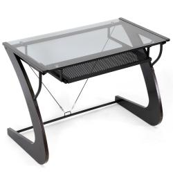 Sculpten Dark Brown Modern Computer Desk - Thumbnail 2