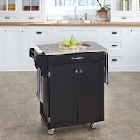 Copper Grove Hilo Cuisine Cart Black Finish Granite Top