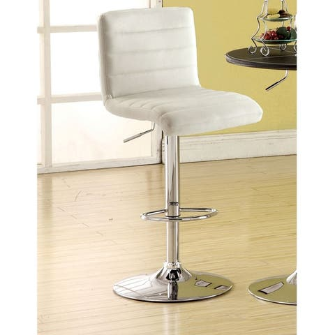 Furniture of America Wisc Modern Faux Leather Padded Barstool