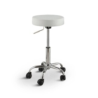 Furniture of America Rolling Ryder White Height Adjustable Bar Stool