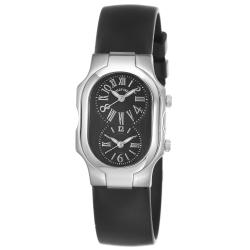 Philip Stein Women's 1-MB-RB 'Signature' Black-Dial Black-Rubber-Strap Swiss Quartz Watch