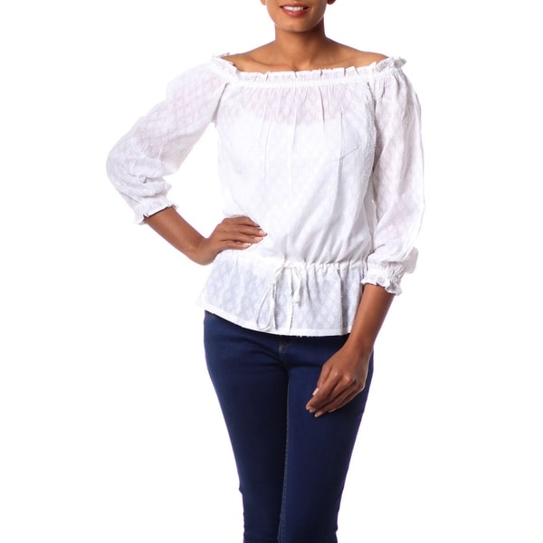 a5bf0d3cafc4f Shop Handmade Cotton  Summer Breeze  Blouse (India) - On Sale - Free ...