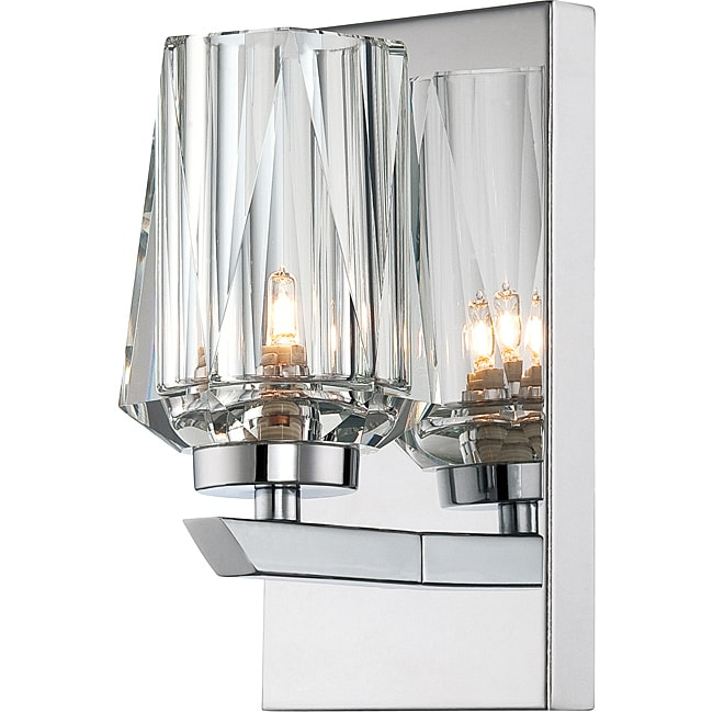 Alternating Current Ginsu 1-light Bath with Crystal Shade