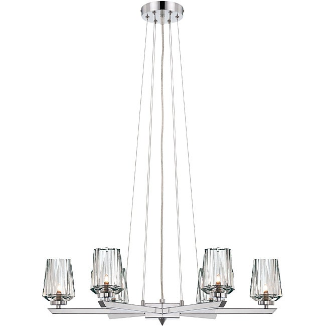 Shar-pei 6-light Chandelier with Crystal Shades