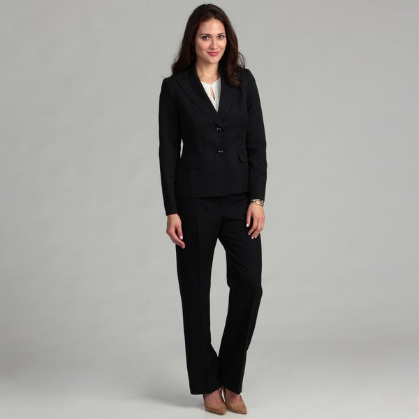 Evan Picone Women's 2-button Peak Lapel Pant Suit