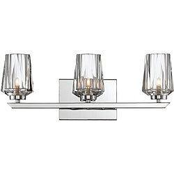 Alternating Current Shar-pei 3-light Bath with Crystal Shades