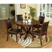 Furniture of America Kristen 5-piece Brown Cherry Dining Set