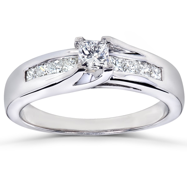 Annello by Kobelli 14k White Gold 1/2ct TDW Diamond Engagement Ring (H-I, I1-I2)