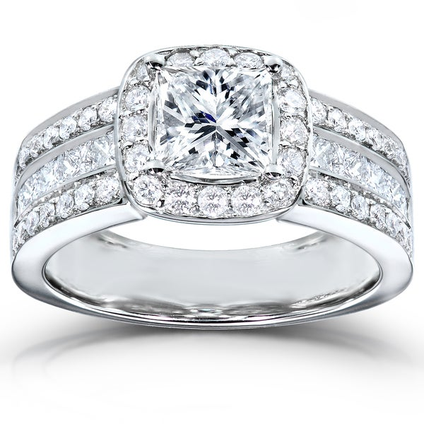 Annello by Kobelli 14k White Gold 2ct TDW Diamond Engagement Ring