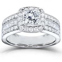 Annello by Kobelli 14k White Gold 2ct TDW Diamond Engagement Ring