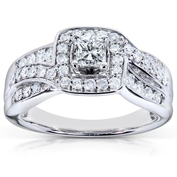 Annello by Kobelli 14k White Gold 7/8ct TDW Diamond Engagement Ring (H-I, I1-I2)
