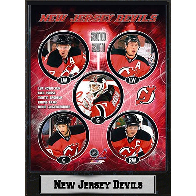 New Jersey Devils 2010 Stat Plaque