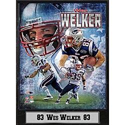 NFL New England Patriots Wes Welker Stat Commemorative Plaque