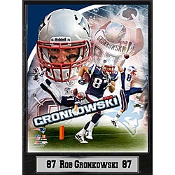 New England Patriots Rob Gronkowski Stat Plaque - Thumbnail 0